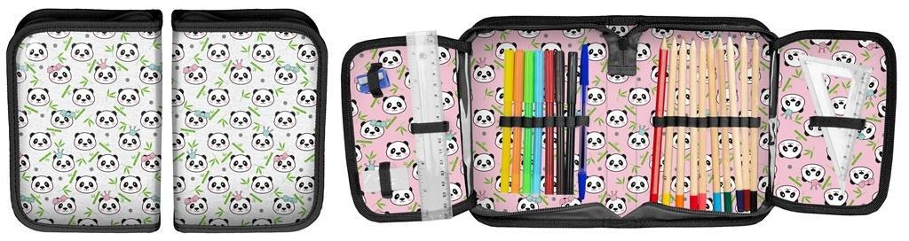 Piórnik Panda z wyposażeniem