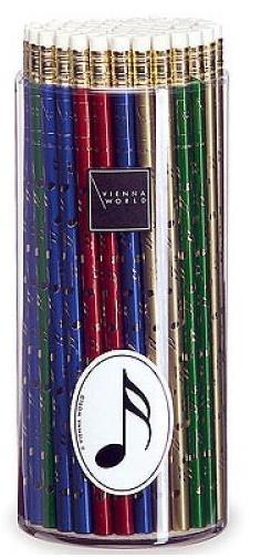 Ołówek kolorowy w nutki