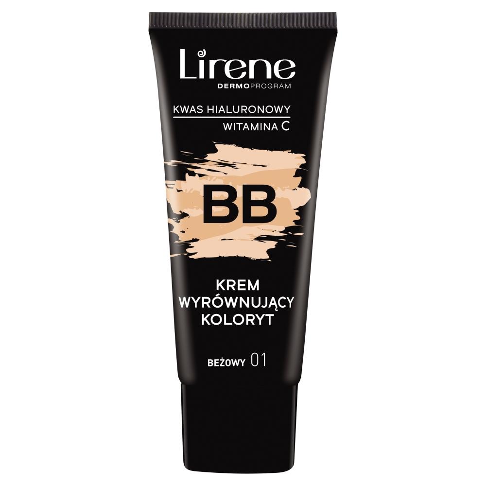 LIRENE_BB krem wyrównujący koloryt z kwasem hialuronowym i witaminą C 01 Beżowy