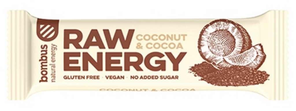 Baton Raw Energy kokos-kakao bezglutenowy