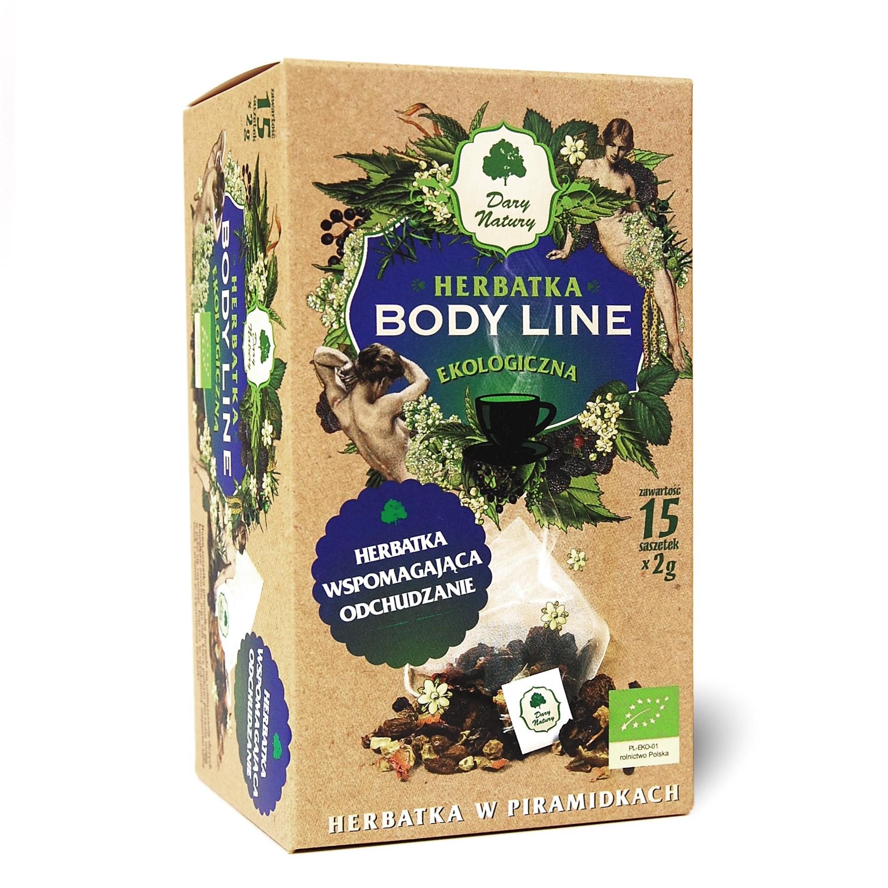 Herbatka Body Line w piramidkach