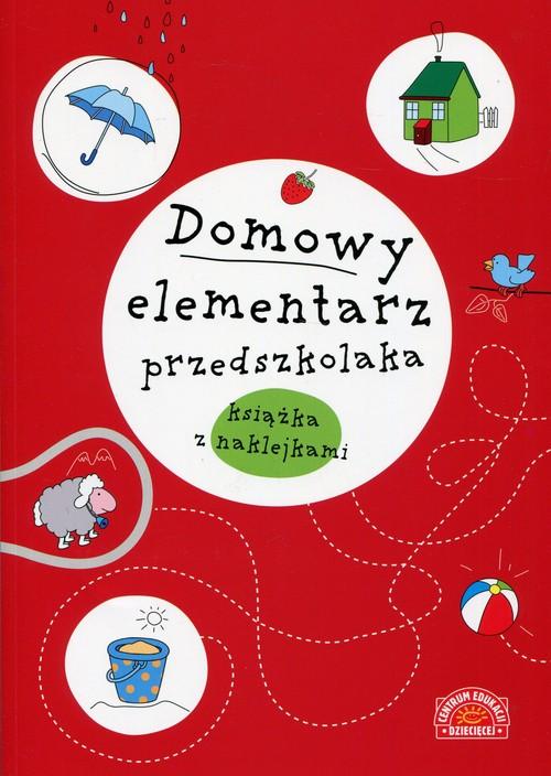 Domowy elementarz przedszkolaka mądre dziecko książka z nalepkami