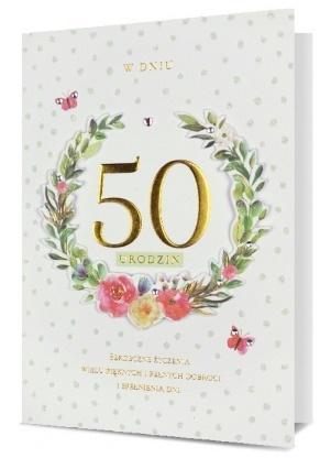 Karnet B6 Urodziny 50 HM200-2289
