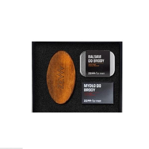 Zadbany Brodacz balsam do brody 80ml + mydło do brody 85ml + Szczotka Brodacza do profesjonalnej pielęgnacji zarostu