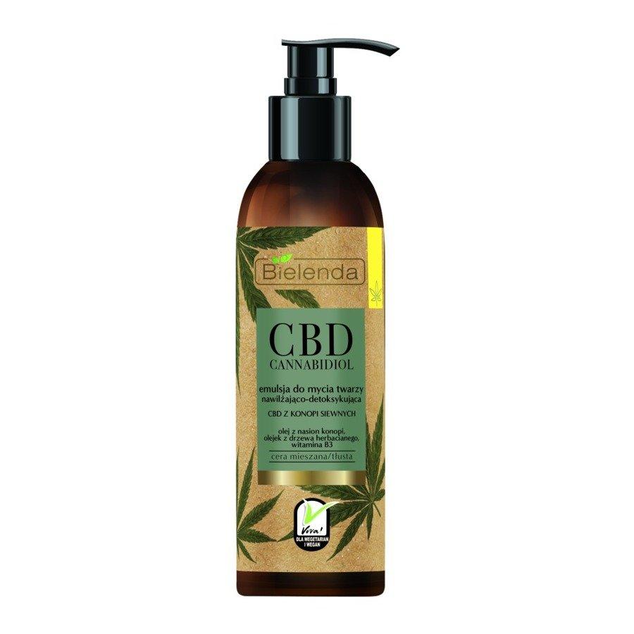 CBD Cannabidiol emulsja do mycia twarzy nawilżająco-detoksykująca