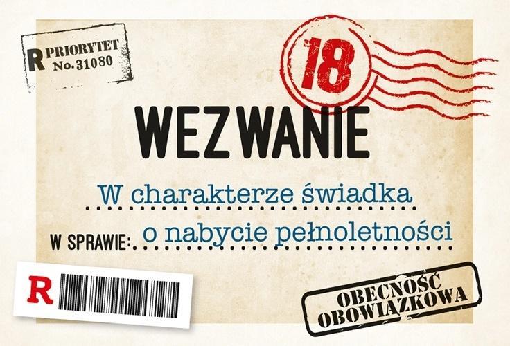 Zaproszenie Urodziny Osiemnastka ZA-79 (10 szt.)