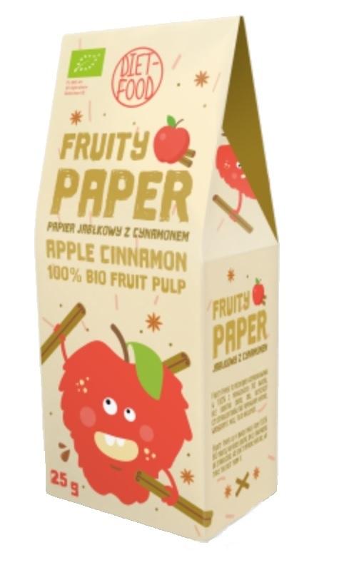 Papier owocowy - jabłko + cynamon