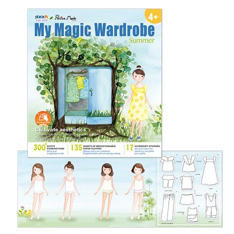 Książka do zabawy moja magiczna garderoba lato