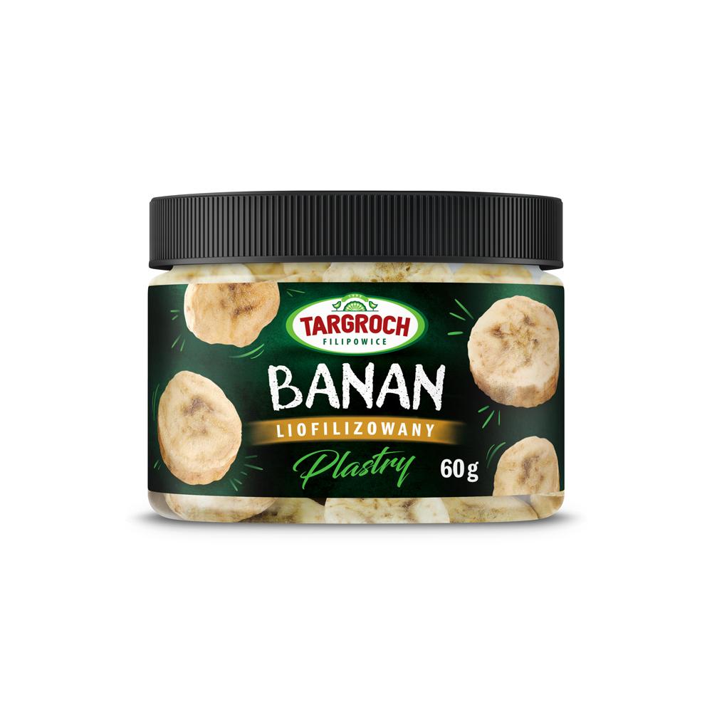 Liofilizowany banan - plastry
