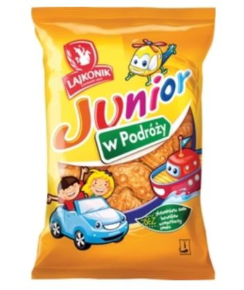 Krakersy junior w podróży