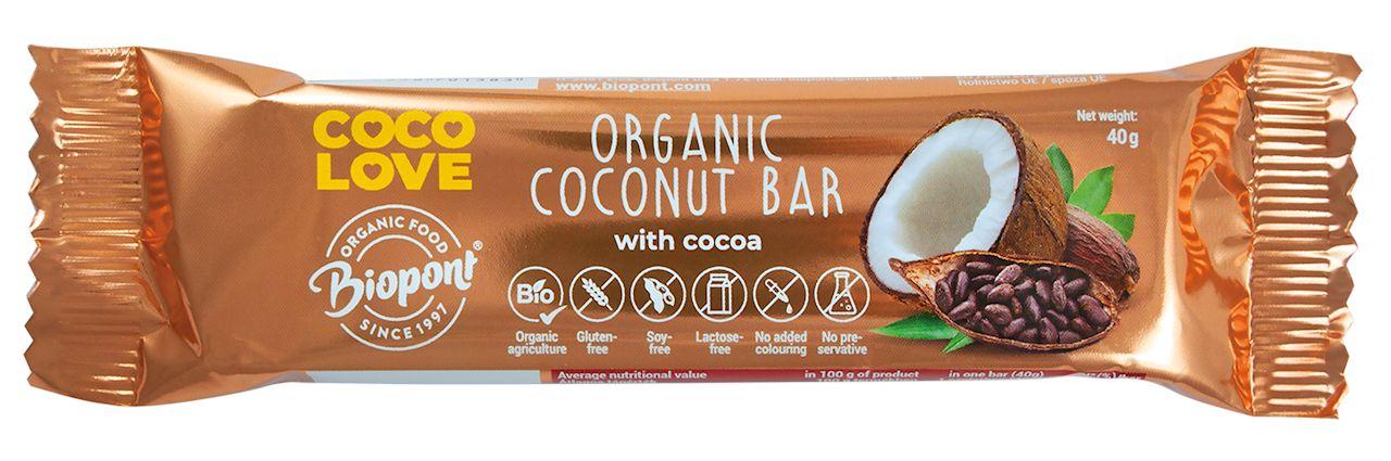 Baton kokosowy z kakao bezglutenowy
