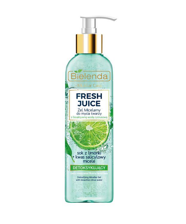 Fresh Juice żel micelarny detoksykujący z wodą cytrusową Limonka