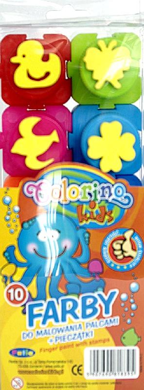 Farby do malowania palcami New Colorino Kids