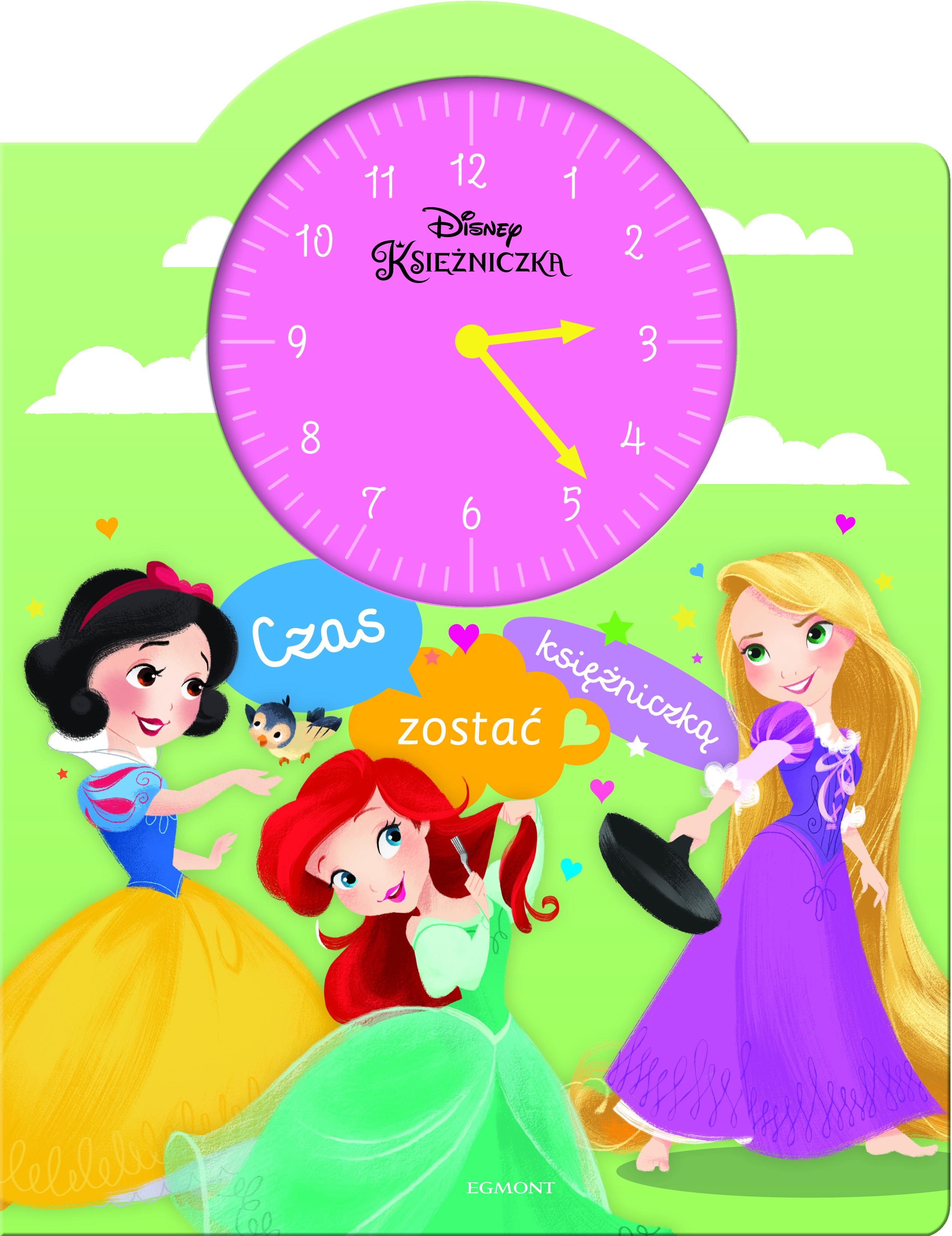 Czas zostać księżniczką książka z zegarem