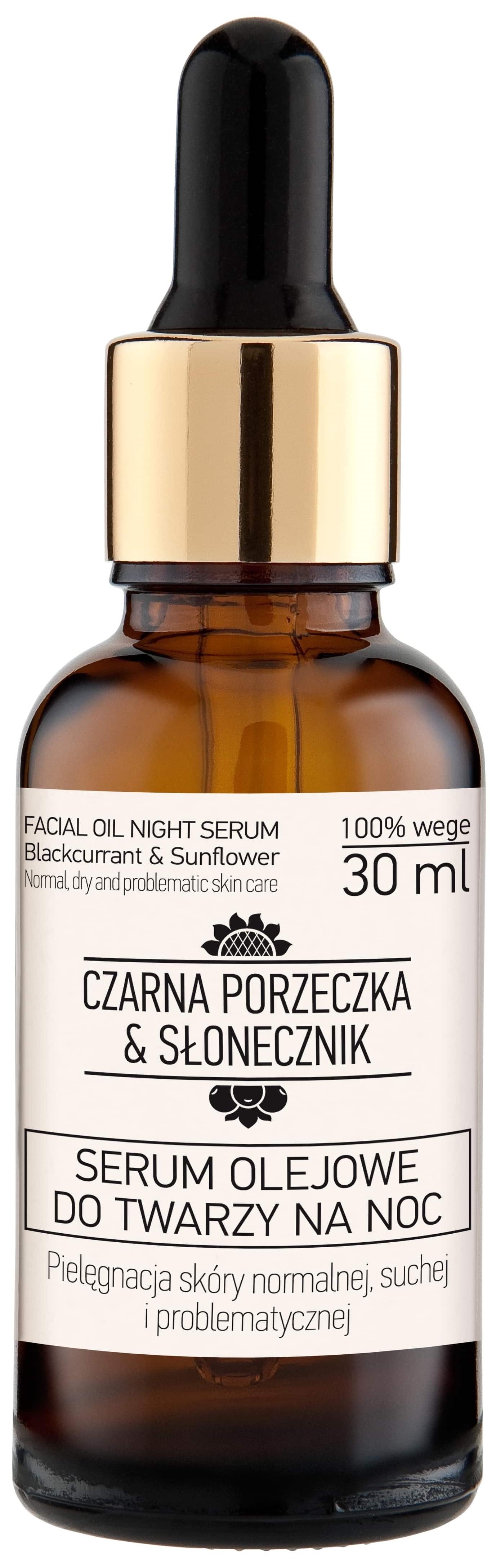 Serum olejowe do twarzy na noc do skóry normalnej, suchej i problematycznej